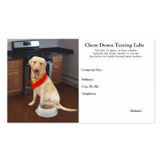 Template for Pet Food Business/Company Rep Business Card