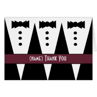 Template for READER Thank You - 3 Tuxedos Greeting Card