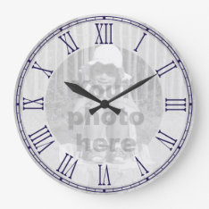Template For Your Photo Roman Numeral Wall Clock at Zazzle