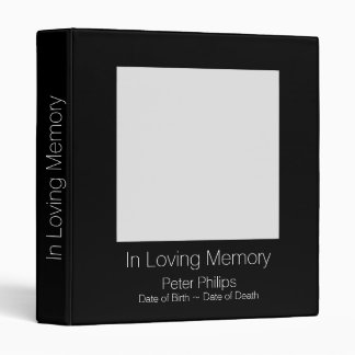 Template Funeral Guest Book 3- Add favorite Image 3 Ring Binder
