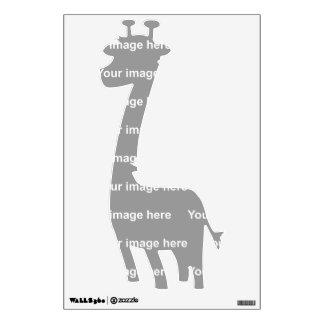 template giraffe Wall Decal