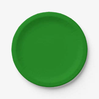 Template Green Paper Plate