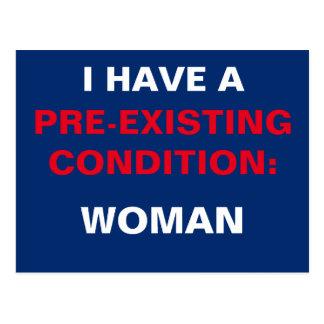 Template I Have a Pre-Existing Condition TrumpCare Postcard