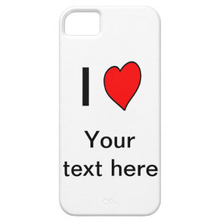 Template I love (your text) iPhone 5 case