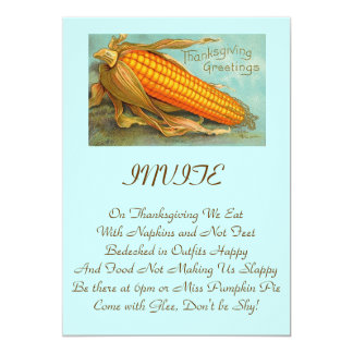 """Template Invitation Thanksgiving or Any Occasion 5"""" X 7"""" Invitation Card"""