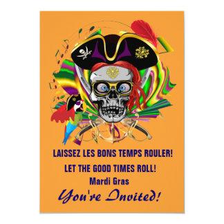 Template Invitations Mardi Gras