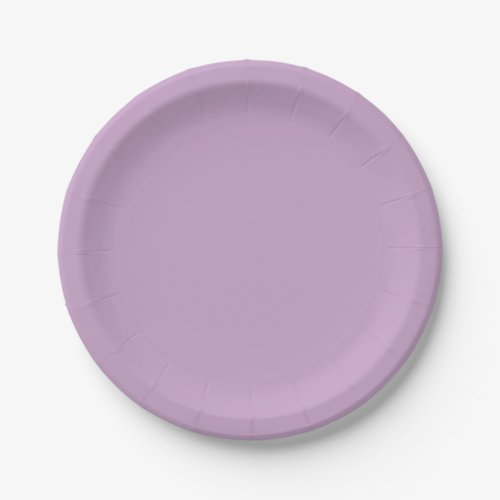 Template Lilac Paper Plate