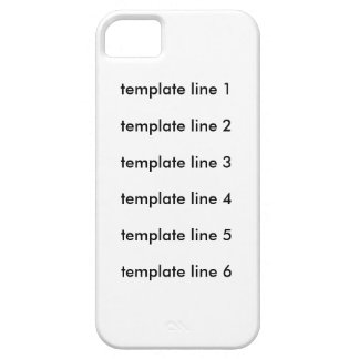 template line test iPhone SE/5/5s case