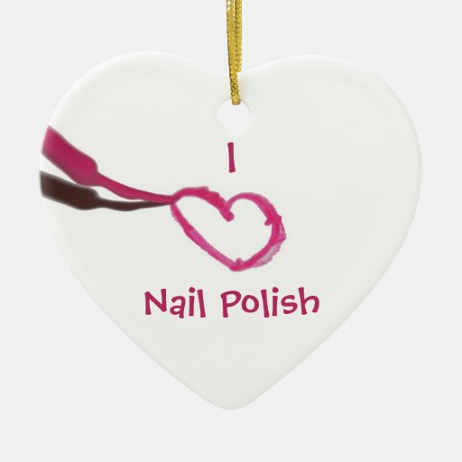 Christmas Ornaments Nail Polish : Template love nail polish christmas tree ornament zazzle