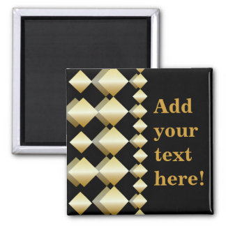 Template Magnet - Customize Gold Black