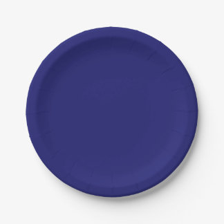 Template Midnight Blue Paper Plate