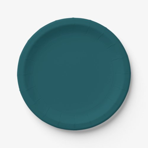 Template Midnight Green Paper Plate