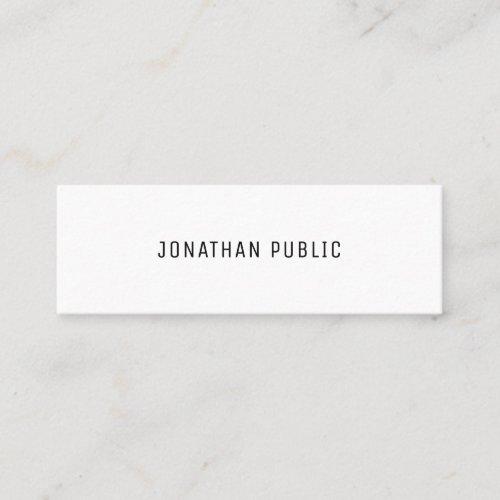 Template Modern Elegant Minimalistic Professional Mini Business Card