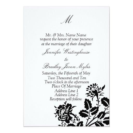 "Template Monogram Wedding Invitations 5"" X 7"" Invitation Card"