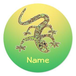 Template :: Name Salamander Sticker - Yellow sticker