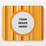 Template, Orange Stripes Border Mouse Pad
