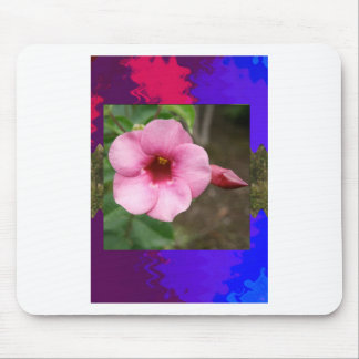 Template orchid flowers butterfly pink yellow gift mouse pads