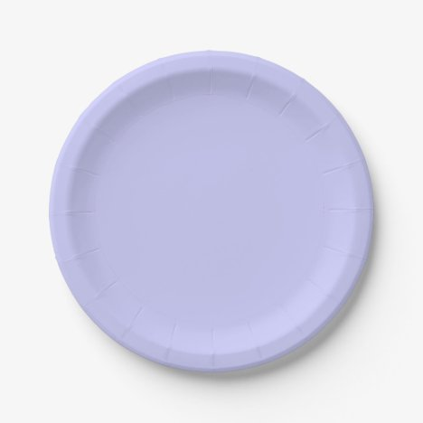 Template Periwinkle Paper Plate