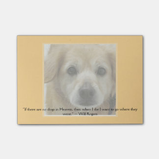Template - Pet Picture and Quote (or keep this!) Post-it Notes