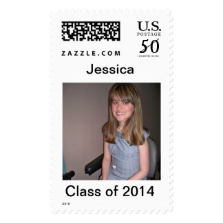 Template photo and text postage stamps