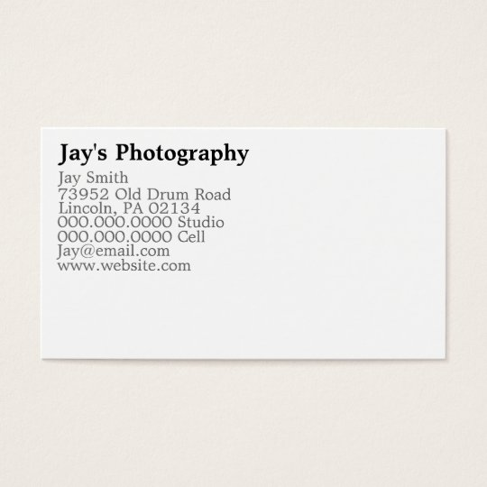Template Photography Business Cards