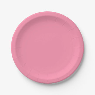 Template Pink Paper Plate