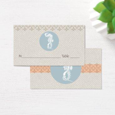 Beach Themed Template Placecards Beach Wedding Seahorse Business Card