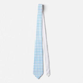 Template Plain Light Blue Line Check Pattern Tie