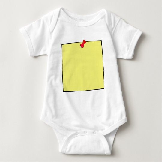 Template-Post It Note Pin Baby Bodysuit