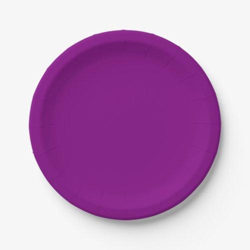 Template Purple Paper Plate
