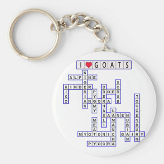 TEMPLATE PUZZLE GOATS KEYCHAIN