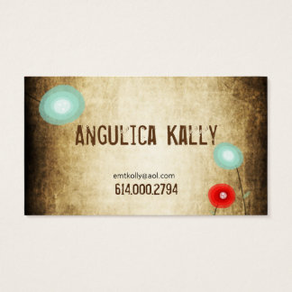 Template Red Poppy Business Card