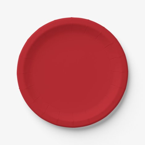 Template Red Ruby Paper Plate