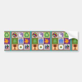 TEMPLATE reseller customer SYMBOLIC ART tell story Bumper Sticker