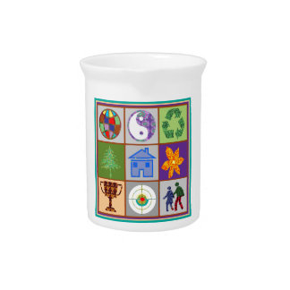 TEMPLATE reseller customer SYMBOLIC ART tell story Drink Pitcher