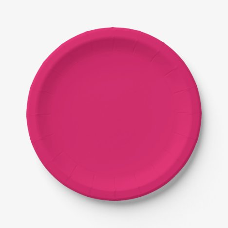 Template Rousing Raspberry Paper Plate