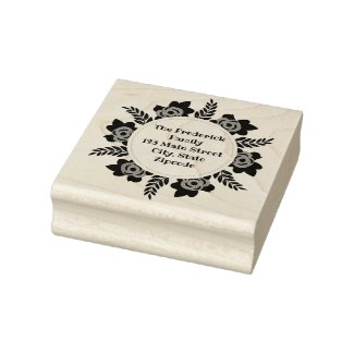 Template Rubber Address Stamp Wood Art Stamp