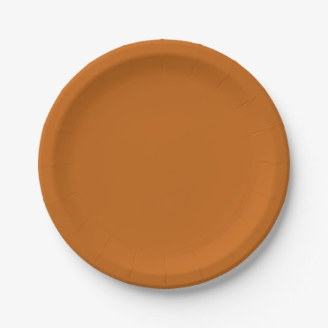 Template Rusted Burnt Orange Paper Plate