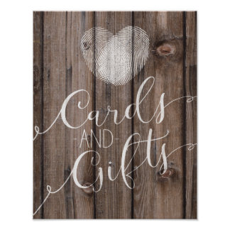 Template rustic wood cards and gifts wedding sign
