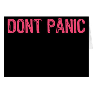 Template Sign -Don't Panic Black/Pink Cards