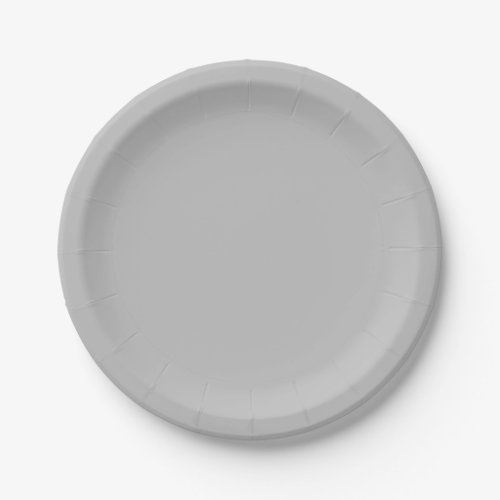 Template Silver-Colored Paper Plate