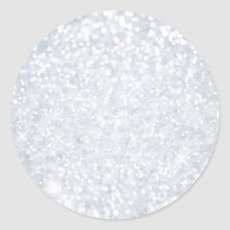 template,silver,glitter,glam,faux,happy holidays, classic round sticker