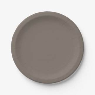 Template Taupe Paper Plate