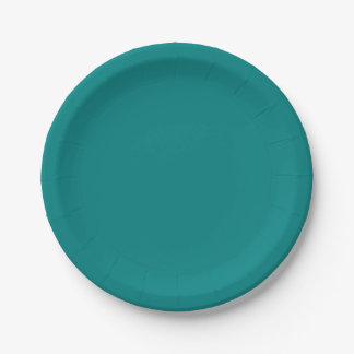 Template Teal Paper Plate