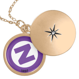 template test locket necklace