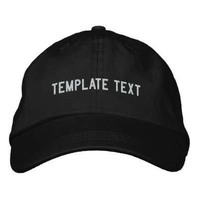 [template text] embroidered baseball caps