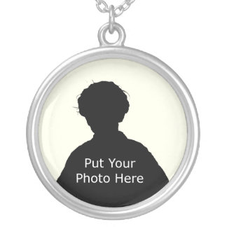 Template to Customize Round Pendant Necklace