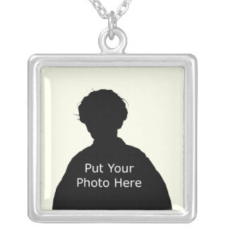 Template to Customize Square Pendant Necklace