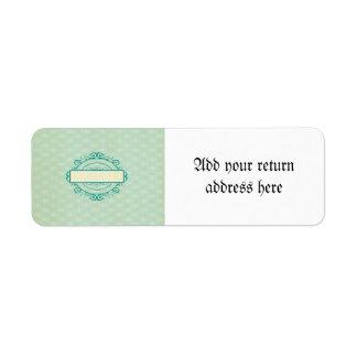Template,vintage,mint,shabby,chic,floral,customize Return Address Label