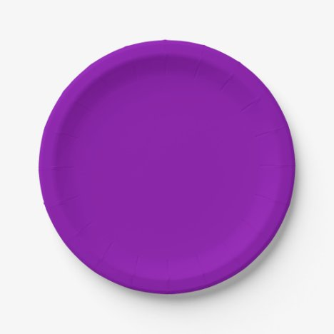 Template Violet Paper Plate
